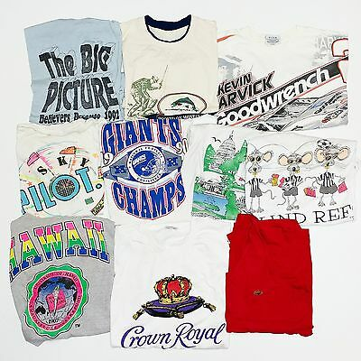Lot of 10 - 90s Graphic TSHIRT Sports Advertising Vintage Vtg USA Made Hype