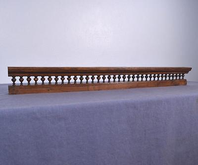 """*44"""" Antique French Shelf/Plate Rail in Solid Chestnut Wood Salvage"""