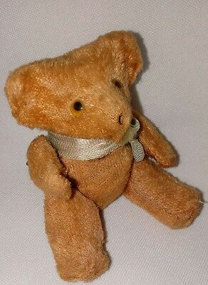 Antique Figural Jointed Teddy Bear Mohair Sewing Tape Measure Japan