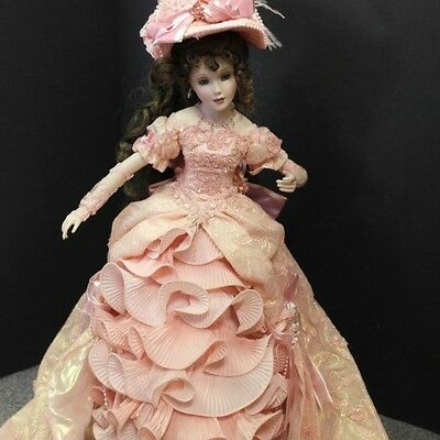 franklin mint porcelain doll new in box