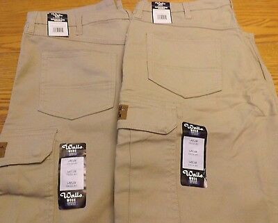 Two Pair of Men's Wall's Construction Grade Work Wear Pants, Size Large, New