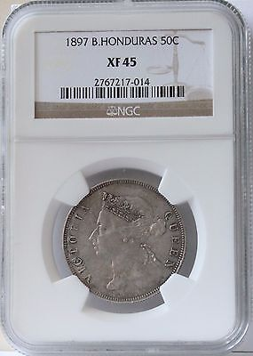 1895 British Honduras 50 Cent XF 45 NGC.  Nice and Original.  Quite scarce.