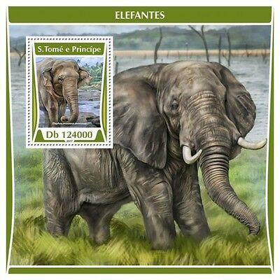 Z08 IMPERF ST17305b Sao Tome and Principe 2017 Elephants MNH ** Postfrisch
