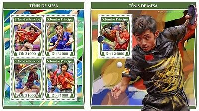 Z08 ST17304ab Sao Tome and Principe 2017 Table tennis MNH ** Postfrisch Set