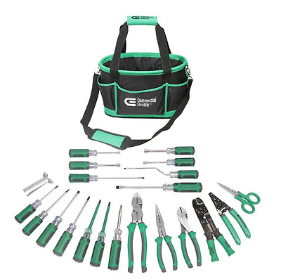 22- Piece New Commercial Electrician Tool Set Kit Bag Piece Electric Hand Repair