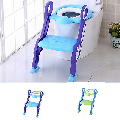 Potty Training Seat for Kids Child Toddler with Step Stool Ladder Toilet Chair