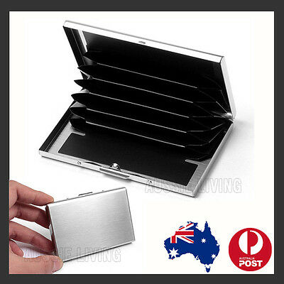 New Deluxe Wallet ID Credit Card Holder Anti RFID Scanning Stainless Steel Case