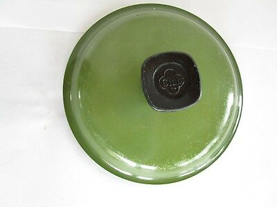 VINTAGE RETRO AVOCADO GREEN CLUB ALUMINUM LID FOR CLUB POT / SAUCE PAN nice 6""