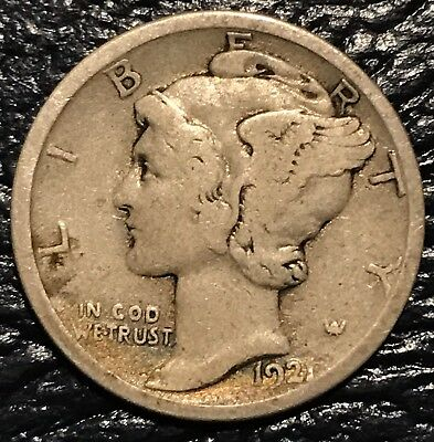 1921 D mercury dime us mint Denver 90% silver coin ~~~~Key Date~~~