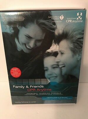 CPR Family & Friends anytime personal learning program, dvd manual and manikin