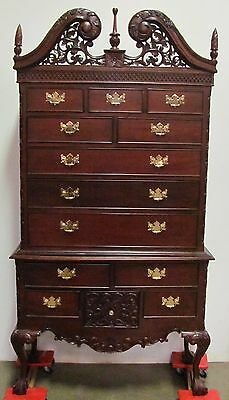 Fantastic Mahogany Ball & Claw Chippendale Chest On Chest Contemporary Indonesia