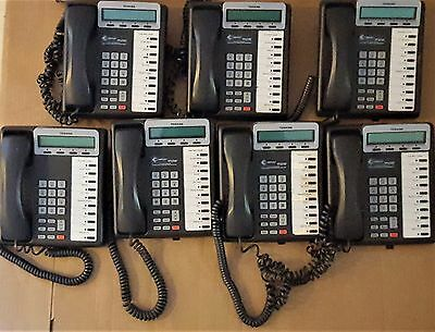 Lot of 7 Toshiba Digital Business Telephones Model DKT3210-SD Business Phone Lot