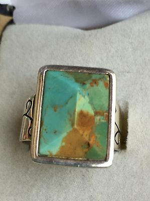 Jay King  Ladies Turquoise And Sterling Silver Ring Size 8