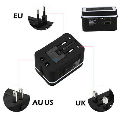 Universal World Travel Power Adapter Converter USB Charger US/AU/UK/EU Plug