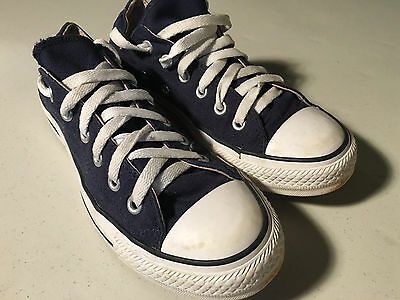 Blue Converse All Star Canvas Sneakers (Women's 6 & Men's 8)
