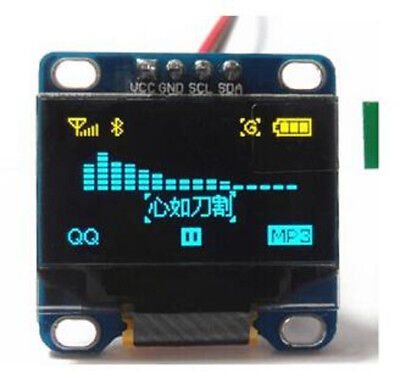 5pcs 0.96 inch Yellow+Blue Double Color IIC 128x64 Display OLED  Screen Module
