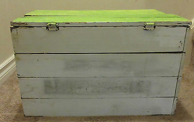 Vintage/Antique HUDSON'S BAY CO Collapsible Wooden Crate Box Canadian