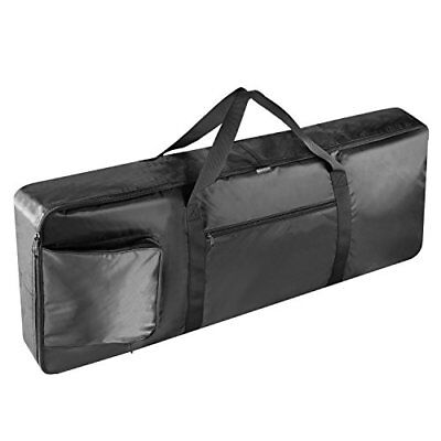 Neewer? Black Portable Padded 61-Key Keyboard Gig Bag with Extra Pockets Carr...