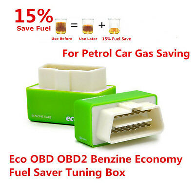OBD2 Performance Fuel Saver Tuning Chip Box Petrol Plug &Drive Tools For Car SUV