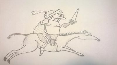 Better Off Dead - Title Sequence- Production Animation Drawing-Knight & Horse