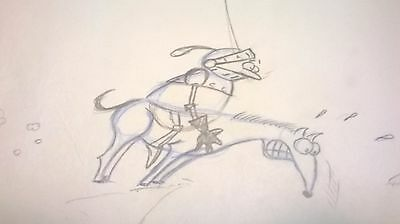 Better Off Dead - Title Sequence- Production Animation Drawing-Knight/horse