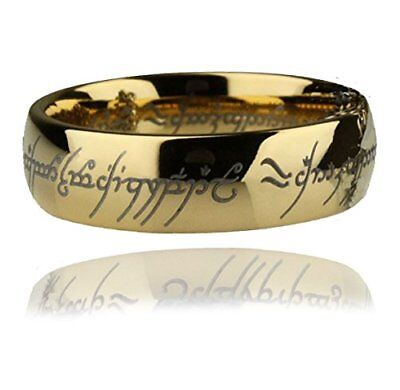 Lord of the Rings The One Ring Gold Plated Replica LOR The One Ring Size 11