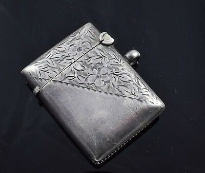 Sterling Silver Match Case by William Haseler 1902