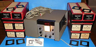 "RARE 2 1/4"" SQUARE & 35mm BAUSCH & LOMB BALOMATIC 755 SLIDE PROJECTOR BUNDLE"