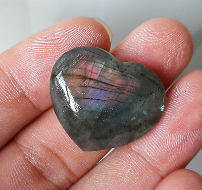 TOP 8.8 G Natural Labradorite Heart Crystal Rough Polished HEALING 7213