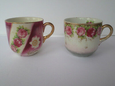 2 Vintage Rose Cups Made In Germany! Gorgeous!