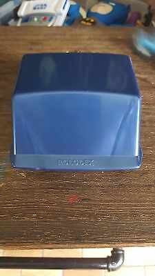 ROLODEX Small Covered Address/Phone/Business/Index Card File System  XR-40 Blue