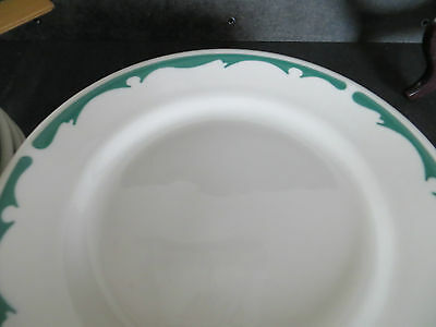 """Buffalo China Green Crest 7"""" side plate vintage restaurant ware"""
