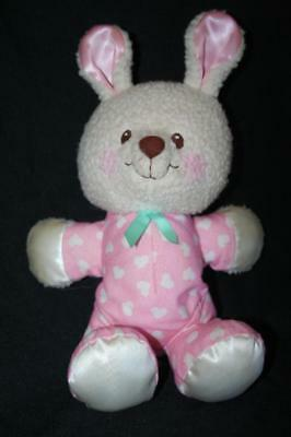 Fisher Price PINK BUNNY PLUSH LOVEY Rabbit Vintage 1997 Baby Toy 73726 73727