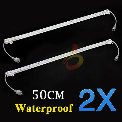2x 12V 5630 Led Strip Lights Waterproof Cool White Bars Camping Caravan Boat Car