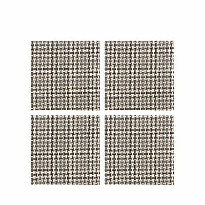 Home Collection Set Of Four Beige Checked Coasters From Debenhams