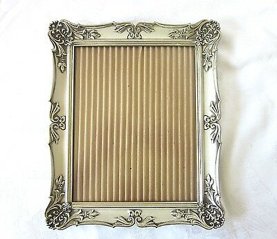 Vintage Frame 1940s Ornate Metal White Washed Picture Photo Wedding 8 x 10
