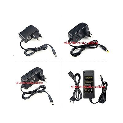EU Plug 1A 2A 3A 5A Power Supply Adapter 100V- 240V to 12V Lighting Transformer