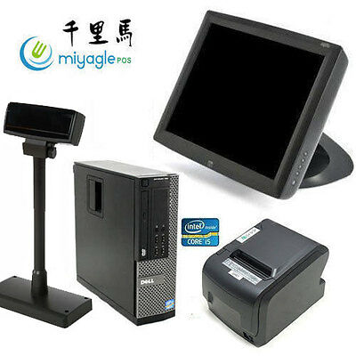"""15"""" Point of Sale System POS All in One Touchscreen Restaurant Dell i5 ELO Pole"""