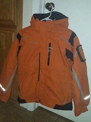 Columbia Sportswear Co. Youth Size 14/16 Jacket Coat Nylon Core (Orange & Black)