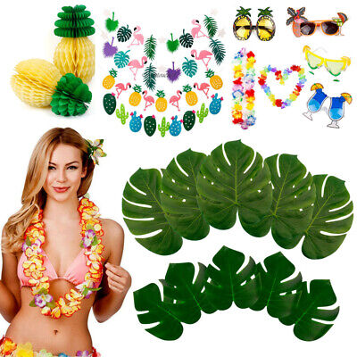 Luau Party Supply Lot Set Hawailan Beach Party Decor Flamingo Garland Pineapple
