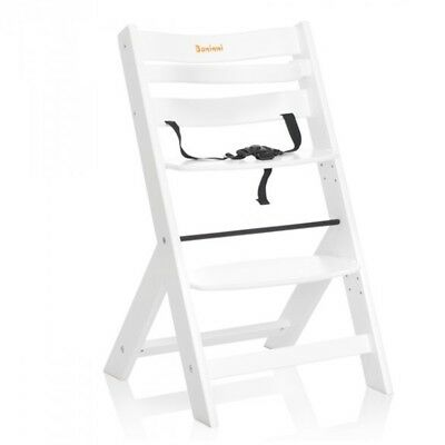 Baninni Baby/Child/Toddler Feeding High Chair Adjustable Scala White BNDT004-WH