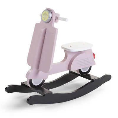 CHILDWOOD Kids Children's Rocking Scooter Toy Relaxing Pink and Black CWRSP