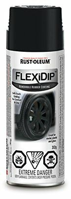 Rust-Oleum SPECIALTY Flexi Dip Removable Rubber Coating 281792 Matte Black 31...