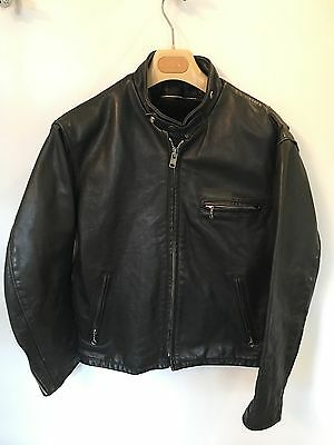 Vintage SCHOTT 141 Racer Cafe perfecto USA mcqueen 40 Leather Jacket Moto LINER