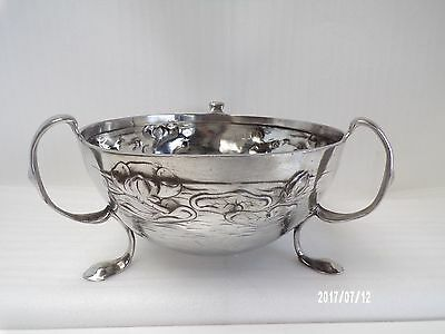 Art Nouveau, Antique, Arts and Craft Pewter Polished Bowl, Tamco