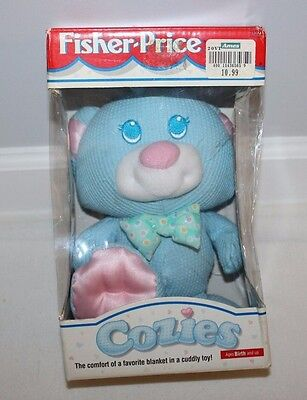 VINTAGE 1996 Fisher Price Cozies Thermal Blue Bear Stuffed Animal Plush NEW