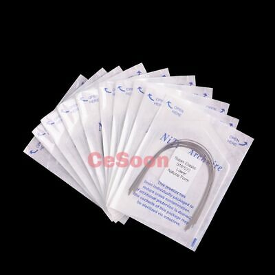 10Packs Dental Orthodontic Super Elastic Niti Rectangular Arch Wires Natural