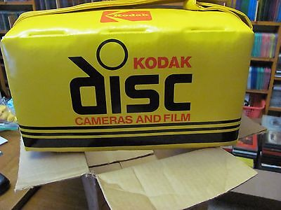 Kodak Disc Camera Vintage 1982 Vinyl Padded Camera Bag Cooler Film Box NIB