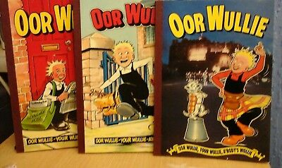 3X Oor Wullie Annuals