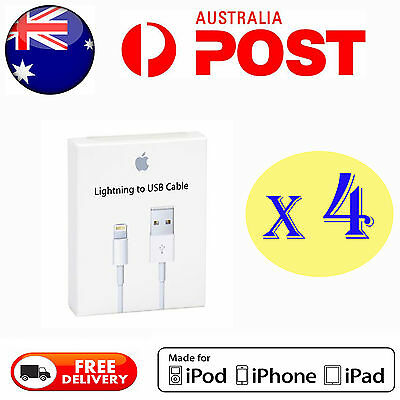 4X Genuine Apple Lightning Data Cable Charger for iPhone 7 7 Plus 6 5S 5C 6 iPad